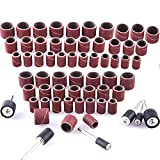 Juego de 384 manguitos de lija (incluye 360 unidades de bandas de lijado y 24 rodillos de lija para herramienta...