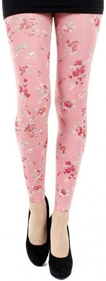 Pink Floral Footless Tights Ditsy For Women