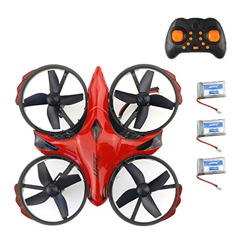 Trendy Techies JJRC H56 Tap to Fly Mini Quadcopter Drone 2.4G 6 Axis Infrared Sensing Headless Mode Remote Control Return to Home 360 Flips and Rolls Easy to Use Red (2 Extra Batteries)