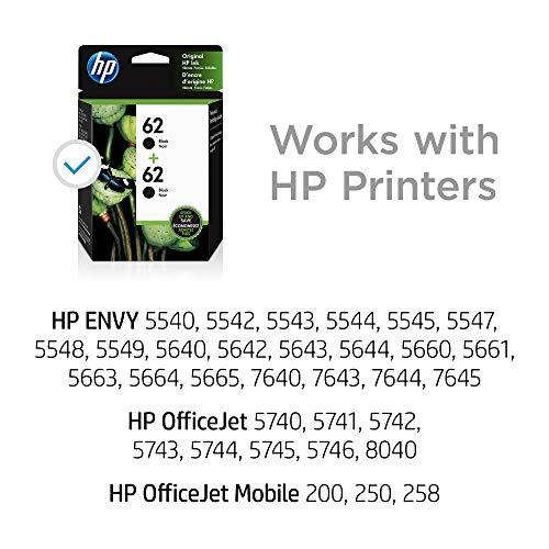 HP 62 | 2 Ink Cartridges | Black | C2P04AN
