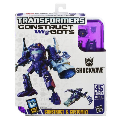 Transformers Construct-Bots Elite Class Shockwave Buildable Action Figure by Transformers