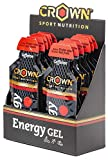 Crown Sport Nutrition Gel Energetico - 12 x Carboidrati, Caffeina, Guaranà, Elettroliti, ...