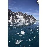 CANVAS ON DEMAND Fugle Fjord, Spitsbergen Island, Arctic, Wall Decal, Mountain Artwork