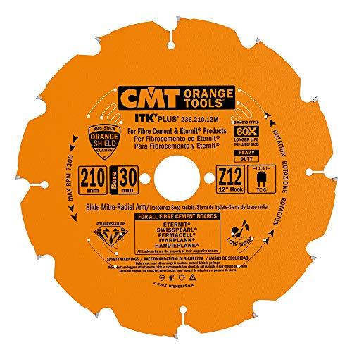 CMT 236.210.12M - Hoja circular para fibrocemento DP 210x2.4/1.8x30+2 Z12