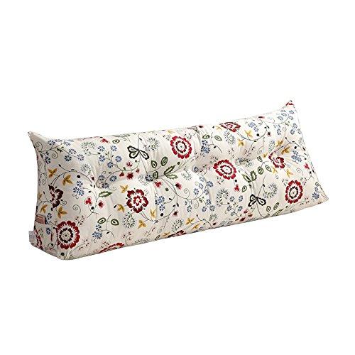 ZWL Coussin de lit, grand Dossier Grand coussin Coussin de lit Canapé Protéger le cou Protéger l'oreiller de taille Long 100-120cm mode z (Couleur : #5, taille : 100 * 20 * 50cm)