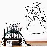 Adhesivo de Pared de Vinilo Lindo Adhesivo de Pared Decorativo de Moda para habitación de niños Dormitorio Art Deco calcomanía 58x85cm