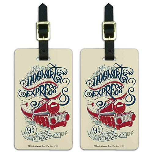 Harry Potter Hogwarts Express Luggage ID Tags Suitcase Carry-On Cards - Set of 2