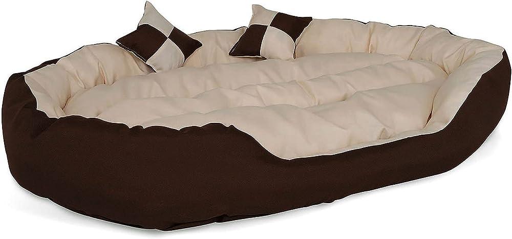 Dibea, letto per cani in tessuto oxford, antigraffio e idrorepellente, per interno e esterno, 110x80 cm, L DB00112
