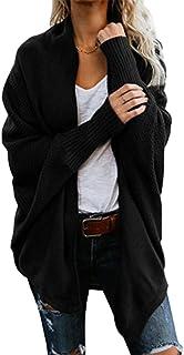 DENGZI Femmes Cardigan Oversize Manteau drapé en Tricot à