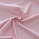 Morbidissimi Cotone a Quadretti al metraggio per Cucito Creativo - Colori Vari P546 Rosa