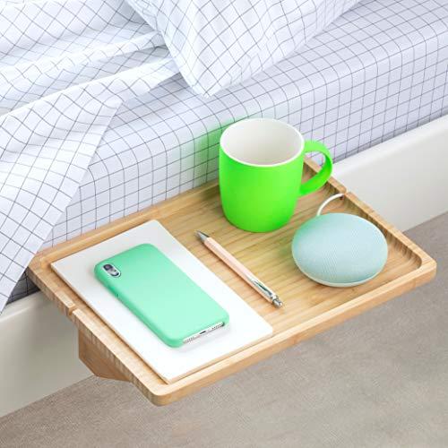 BedShelfie The Original Bedside Shelf - 9 Colors / 4 Sizes - The Perfect College Dorm Room Essential (Minimalist Size, Natural)