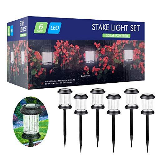 Lampada Solare Giardino Esterno,kdorrku 6 Pezzi Lampade per Illuminazione Giardino Terra,IP65 Impermeabile Faretti Luci Solari LED ,Lampade Solari da Giardino Decorative per Paesaggio Strade Aiuola