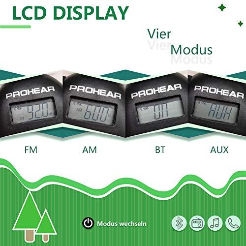 PROHEAR 033 Gehörschutz mit Bluetooth, FM/AM Radio Ohrenschützer, Eingebautem Mikrofon und Lärmreduzierung für Forst-, oder Landarbeit & lärmintensive Freizeitaktivitäten SNR30dB - 6