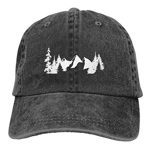 N - A Gorras de béisbol de los hombres del árbol de montaña de camping verano ajustable Denim Dad Hat