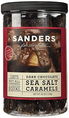 Sanders Dark Chocolate Sea Salt Caramels - 36 ounces (2.25 pounds) - PACK OF 2