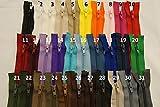 FIM SONDERLÄNGEN 31cm - 64cm Reißverschluss Kunststoff Plastik Spirale Nr.5 Teilbar für Jacken, 8 - rosa(134), 42cm