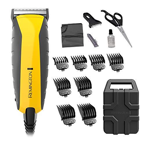 Remington HC5850 Kit de corte de cabelo praticamente indestrutível e aparador de barba, aparador de cabelo para homens (15 peças), cores variam