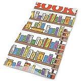 show best Unisex Modern Library Bookshelf with A Ladder Double Sided Print Variety Scarf Headbands Bandana Magic Headband Elastic Seamless Bandana Headwear Head Scarf 9.8 X 19.5 Inch