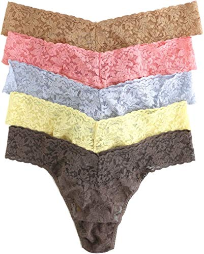hanky panky Signature Lace Original Rise Thong 5-Pack Classics One Size