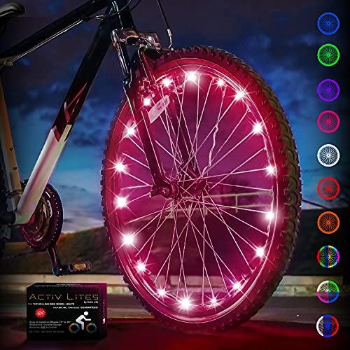 Activ Life Bike Wheel Lights (1 Tire, Pink) Top Birthday...