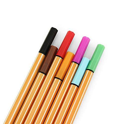 SSSZKJY 12 Colori 0.4mm Art Mark Penna Acquerello Penna Art Markers Linea Disegno Penna a Sfera in Fibra per schizzare Pittura