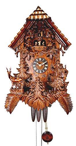 August Schwer Reloj cucú Cazador, antílope, Ciervo