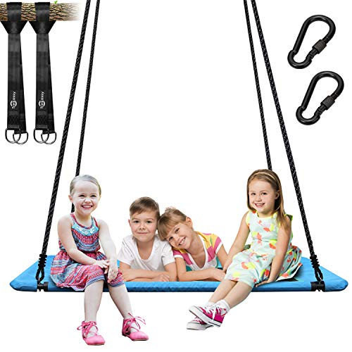 Trekassy 60' 700lbs Platform Tree Swing for Kids and Adults 900D Oxford with Adjustable Ropes and 2...