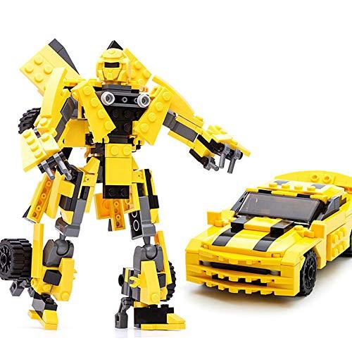 Bausteine Auto Bumblebee Transform Sportwagen, 17 cm, Konstruktionsspielzeug, 225 Teile