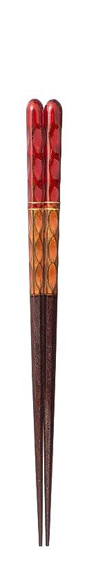 一双 ギフトに最適な高級ブランド箸 粋柄 彩重 20.5cm 38696