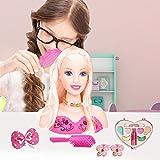 vogueyouth Cabezas de Maquillaje y peluquería, muñeca de Medio Cuerpo Princesa Trenza de Pelo cosmética Juego de simulación Juguetes de Aprendizaje Regalo de cumpleaños para niñas