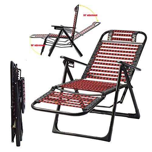 MSHK Patio Zero Gravity Chair Outdoor Comfort Folding Recliner, Recliners Adjustable Lawn Lounge Chair for Poolside, Yard and Camping