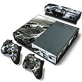 AXDNH Etiqueta Engomada De La Piel De La Consola Xbox One Diseño De Moda Cool Racing + 2 Máscaras De Controlador + Película De Protectores Kinect,0095