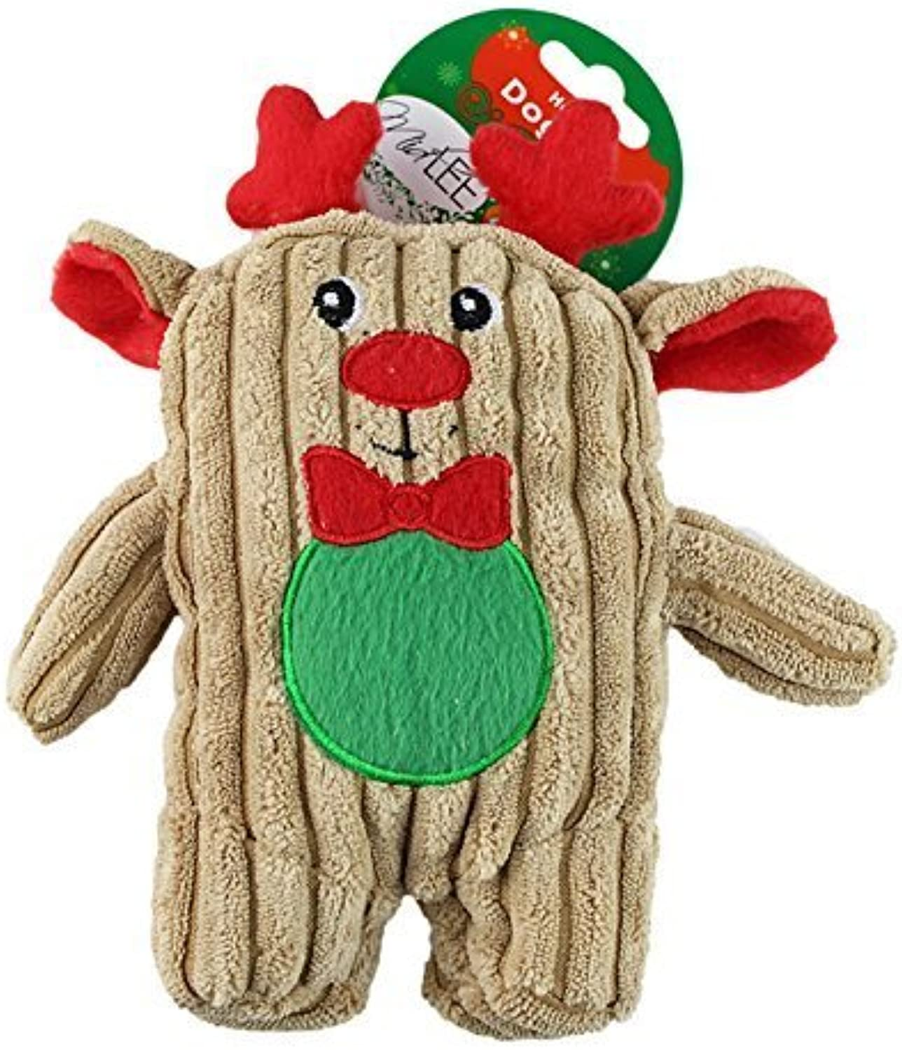 Reindeer Christmas Corduroy Dog Toy by Midlee