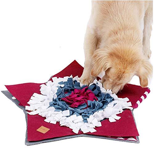 Lloriquear Alfombrilla para Perros, Mascota Comedero Nosework Delicias Puzzl-E Entrenamiento Juguete, Interactivo Pienso Juego Máquina Lavable Y Duradero Juguetes Estrés Liberación Antideslizante