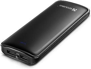 Powerbank 15600mAh de CoolReall, batería externa, 2 puertosUSB, batería adicional portátil, dispositivo de carga adicional para teléfono móvil, para iPhone X 8 7 6S 6 Plus,iPad,Samsung Galaxy S8,Huawei y otros smartphones, tableta, color negro