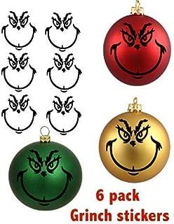 6 Pack_Grinch_TheGrinch_Dr.Seuss'_ChristmasOrnamentDecoration_Christmas_Ornaments_DYI_Green_Black_Blue_Red_Christmas Tree_Holidays_Tree_Ornament_Fun_Easy