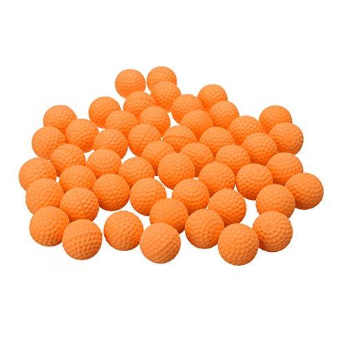 Bluelover 50Pcs Naranja Redondo Reemplazar La Bola para Nerf