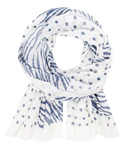 Majea Tuch - Mustermix, blau Schals Tücher Halstuch Umschlagtuch Scarf Damen Artikel-Nr.150635