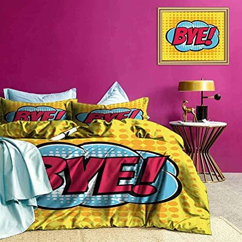Tagesdecken Bettdecke Comic Text Ultra Ultra Soft Bettbezug Set Ultra Soft & Leicht zu pflegen