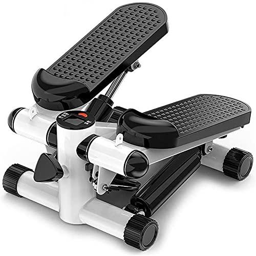 HMBB Escalador portátil Escalera Paso a Paso y Cintura de Fitness Twister Paso de la máquina con el Monitor LCD, hogar silencioso Paso a Paso con Bandas de Resistencia