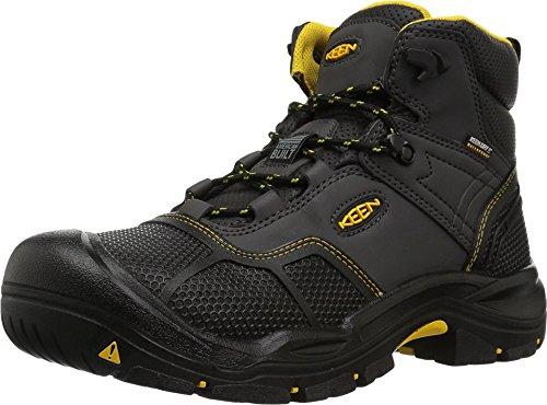 KEEN Utility Men's Logandale Mid Steel Toe Waterproof Work Shoe, Raven/Black, 11.5 Medium US
