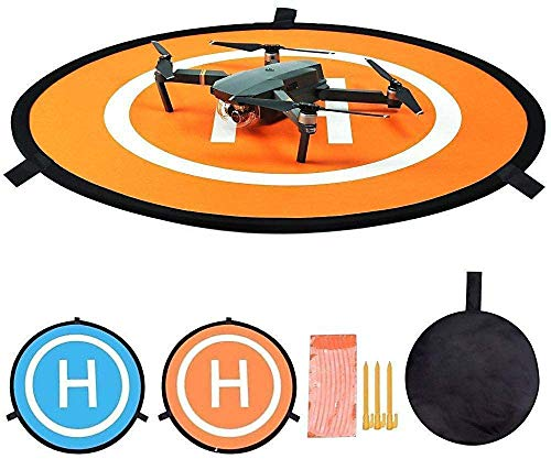 Linghuang Drone Landing Pad Waterproof 110 cm Pads portátiles de Aterrizaje Plegables Drone Take Off Landing Mat para dji Mavic Mini Mavic Air Mavic 2 Pro Mavic 2 Zoom dji Phantom 2 3 4