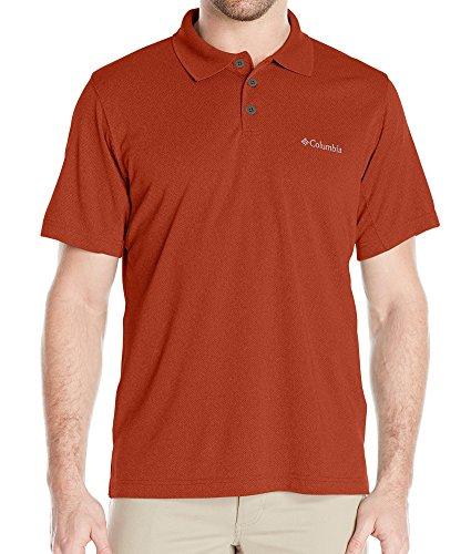 Columbia Men's New Utilizer Polo Shirt, Rusty Heather, Large