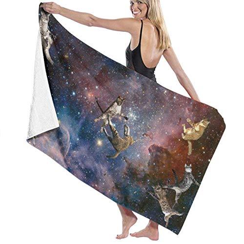 Galaxy Stars Wars Gatos Toalla de baño de Secado rápido Toalla de Playa Envoltura Manta de Viaje Toalla de SPA de natación 130x80 cm