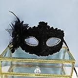 MaskeHalloweenLace Halbe GesichtsmaskeParty Princess Maske Schwarz One Size