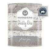 Wanders24®️ Kreidefarbe (750 ml, zeitloses Grau) Holzfarbe für Shabby Chic Look - Möbelfarbe...