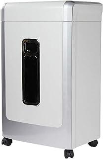 家庭用インテリジェントハイ&ローギアシュレッダー機密データシュレッダー大型商業用シュレッダー3 * 20mm粒状シュレッダー (Color : Silver, Size : 35.5*27.2*58.8cm)