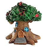 KaariFirefly Mini Fairy Tree House Vivid Miniature Garden Micro Landscape Ornament Craft Decor kids gift Green