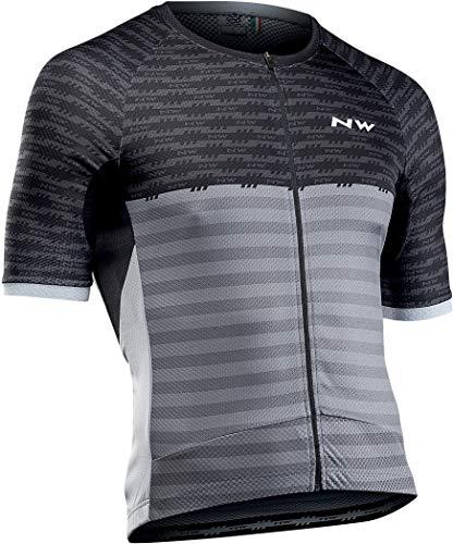 Northwave Storm Fahrrad Trikot kurz schwarz/grau 2020: Größe: XL (52)