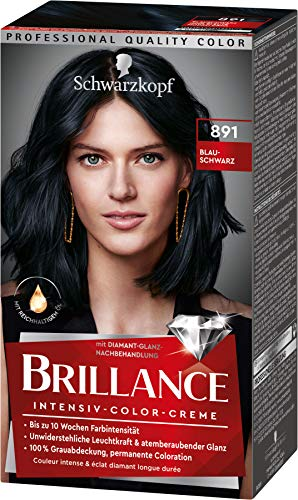 Brillance Intensiv-Color-Creme Haarfarbe 891 Blauschwarz Stufe 3, 3er Pack(3 x 160 ml)